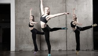 Dancers workout